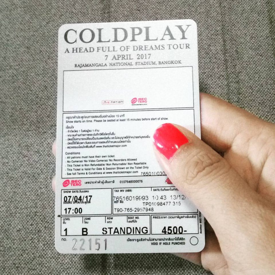 Read more about the article Coldplay A Head Full Of Dreams Tour In Thailand